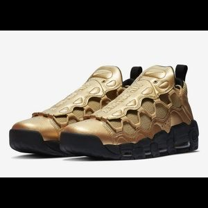 Nike Air More Money Metallic Gold Sneakers